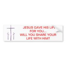 Good Friday - 3 Crosses Bumper Sticker