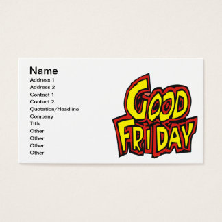 Good Friday Business Card