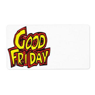Good Friday Label