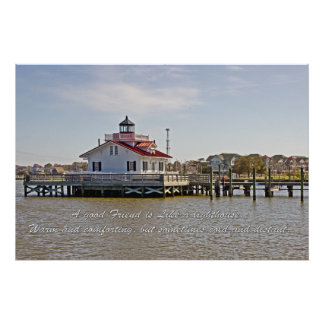 Good Friend At The Roanoke Lighthouse Photo Print