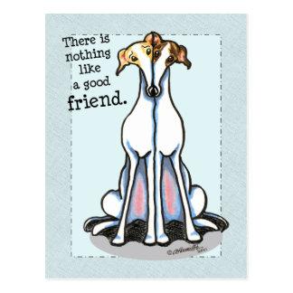 Good Friend Greyhound Lover Postcard