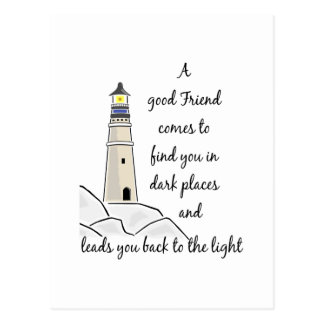 Good Friend Inspirational Quote Postcard
