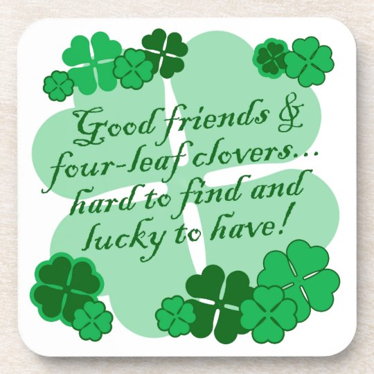 Good Friends and Shamrocks Beverage Coaster