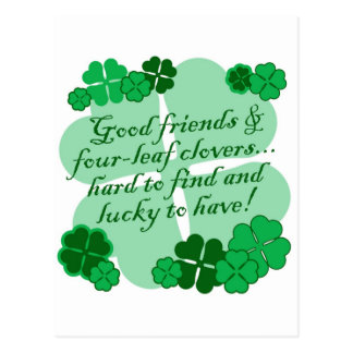 Good Friends and Shamrocks Post Card