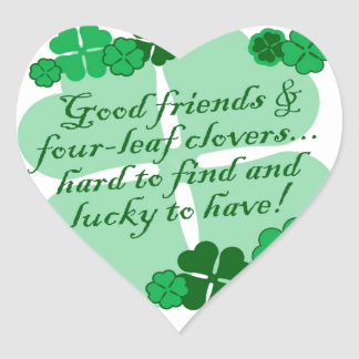 Good Friends and Shamrocks Stickers