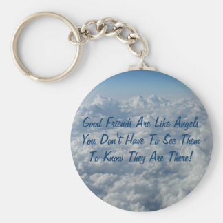 Good Friends Are Like Angels Basic Round Button Keychain