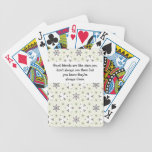 Good friends  are like stars Custom Quote Poker Cards