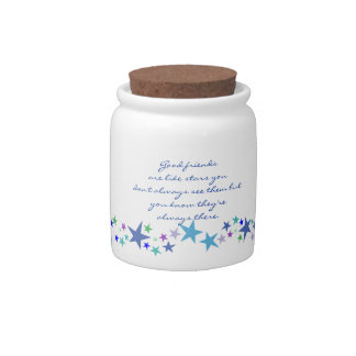 Good Friends are Like Stars Fun Quote Candy Jar