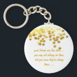 """good friends are like stars keychain<br><div class=""""desc"""">tell your friends how much they mean to you with this beautiful key chain,  designed to match our best selling magnet!</div>"""