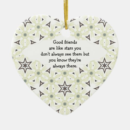 Good Friends are Like Stars Quote Christmas Tree Ornament