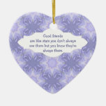 """""""Good Friends are Like Stars"""" Quote Watercolor Christmas Ornament"""