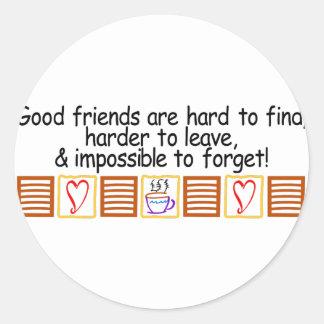 Good Friends Classic Round Sticker