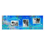 Good Friends Family Mermaid Blue Vision Board Poster