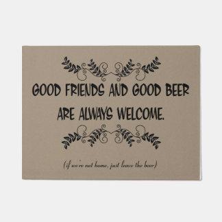 Good Friends & Good Beer Always Welcome Doormat