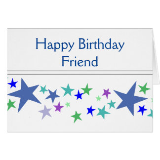 Good Friends Like Stars Always There Quote Card