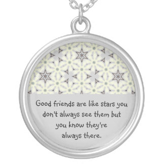 Good Friends Like Stars Always There Quote Personalized Necklace