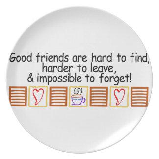 Good Friends Melamine Plate