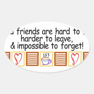 Good Friends Oval Sticker