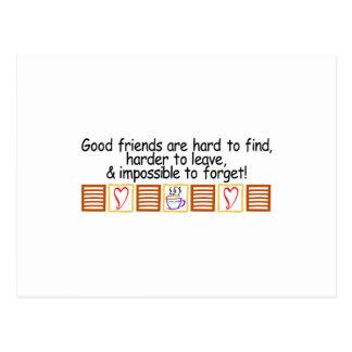 Good Friends Postcard