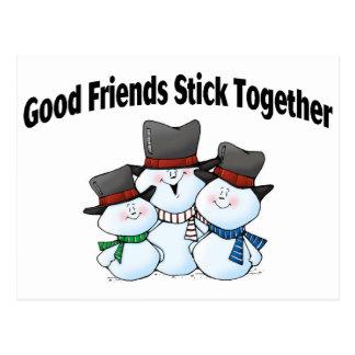 Good Friends Stick Together Postcard