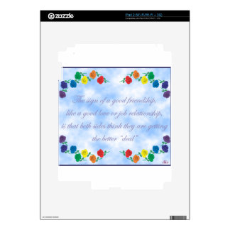 Good Friendship Decals For The iPad 2