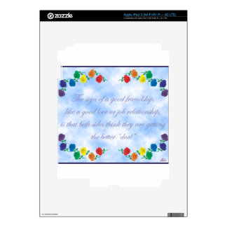 Good Friendship Decals For iPad 3