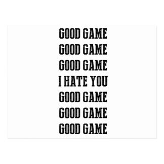 Good Game I Hate You Good Game! Sports Humor Postcard