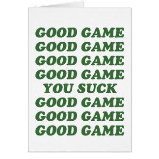 Good Game You Suck Card