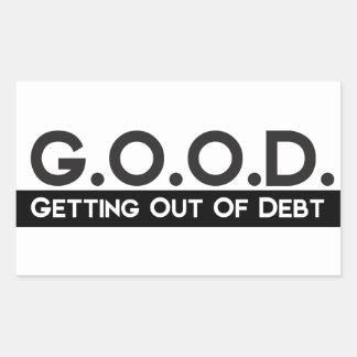 Good Getting Out of Debt Rectangular Sticker
