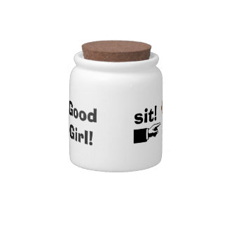 Good Girl!-Doggie Treats/Personalize Pet Name Candy Jar