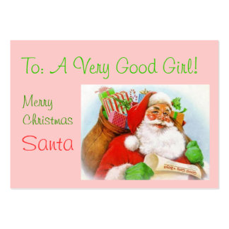 GOOD GIRL GIFT TAG LARGE BUSINESS CARD