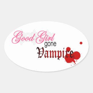 Good girl gone vampire oval sticker