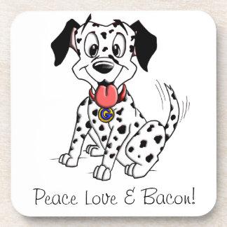 Good Girl Gracie's Peace Love & Bacon coasters