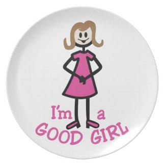 Good Girl Melamine Plate