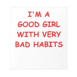 good girl scratch pads