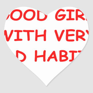 good girl heart sticker