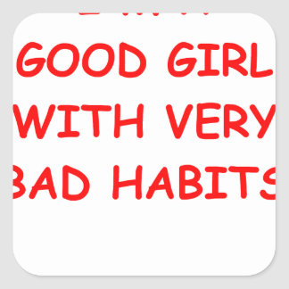 good girl square sticker