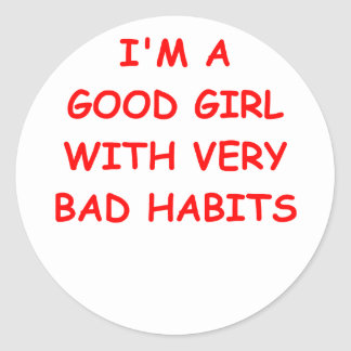 good girl classic round sticker