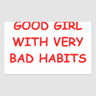 good girl rectangular sticker