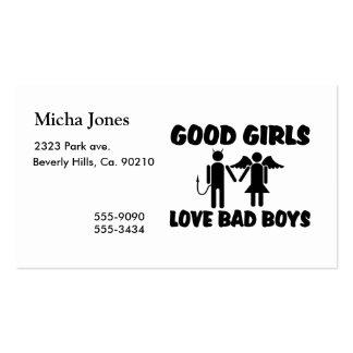 Good Girls Love Bad Boys Business Card