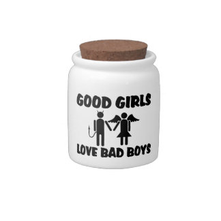 Good Girls Love Bad Boys Candy Jar