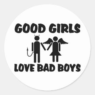 Good Girls Love Bad Boys Round Sticker