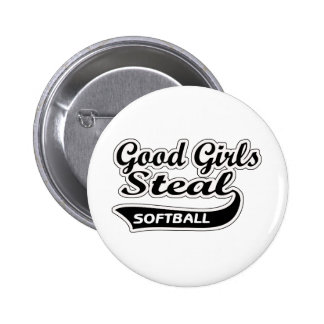 Good Girls Steal (black) Pinback Button