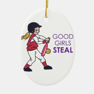 Good Girls Steal Ceramic Ornament