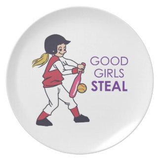 Good Girls Steal Melamine Plate