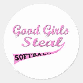 Good Girls Steal (Pink urban) Classic Round Sticker