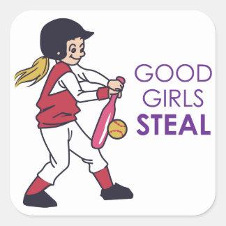Good Girls Steal Square Sticker