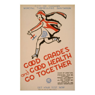 Good Grades And Good Health Go Together WPA Poster