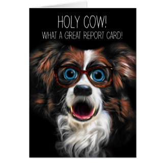 Good Grades Congratulations Funny Border Collie Card
