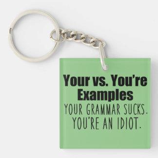 Good Grammar Keychain